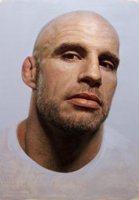 artist Cesar Santos' portrait of John