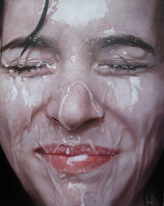 Darian Mederos hyper realism painting.