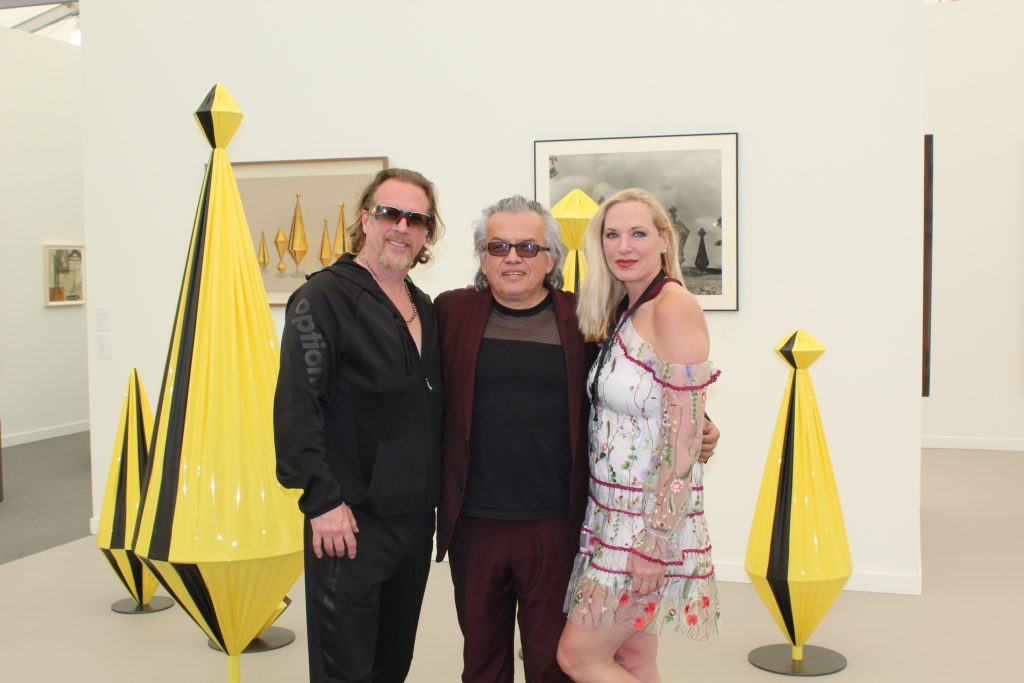 Gregory de la Haba with Raul Zamudio and Donnalynn Patakos