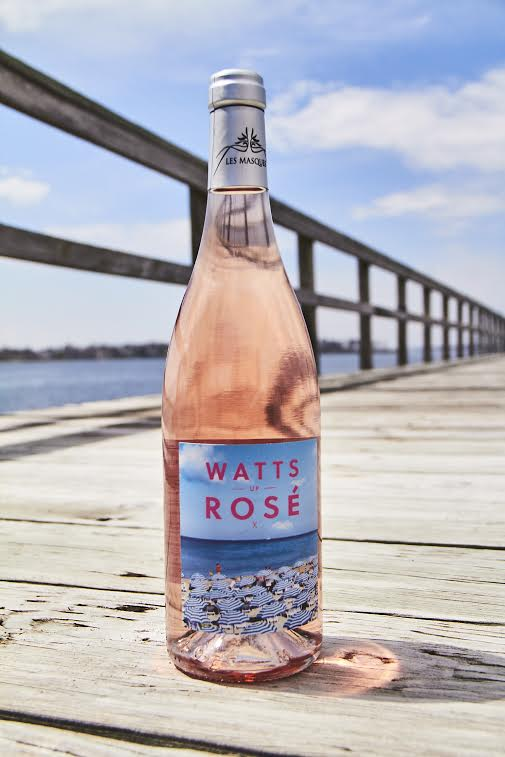 A bottle Watts Rosé Wine