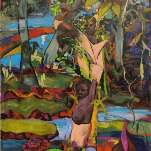 EGOBEHÜTERIN, 120 x 80 cm, Acryl und Öl auf Leinwand, 2019