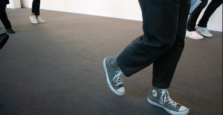 Feet of Art Basel