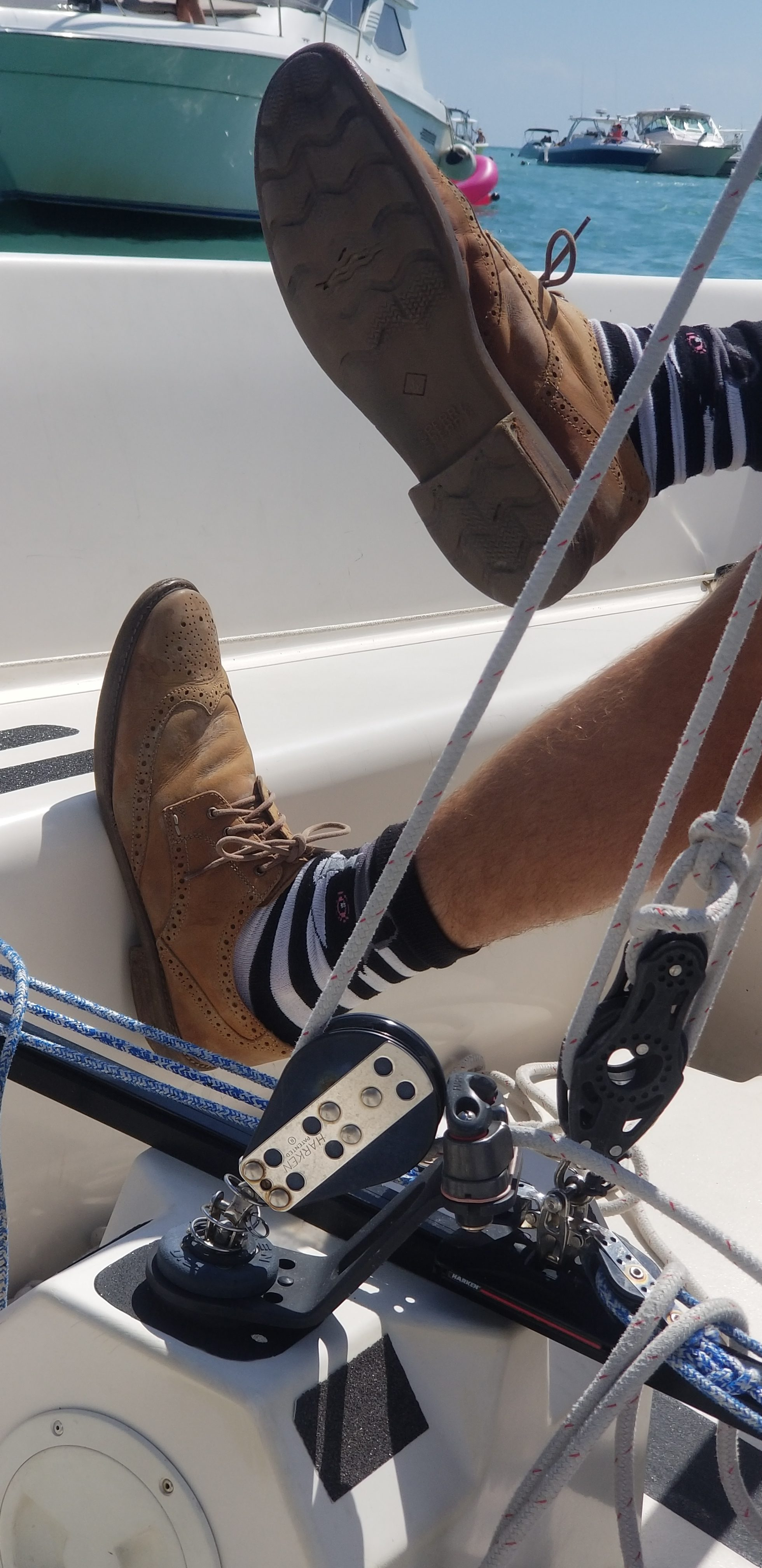 Luke Lawrence and his sperry's