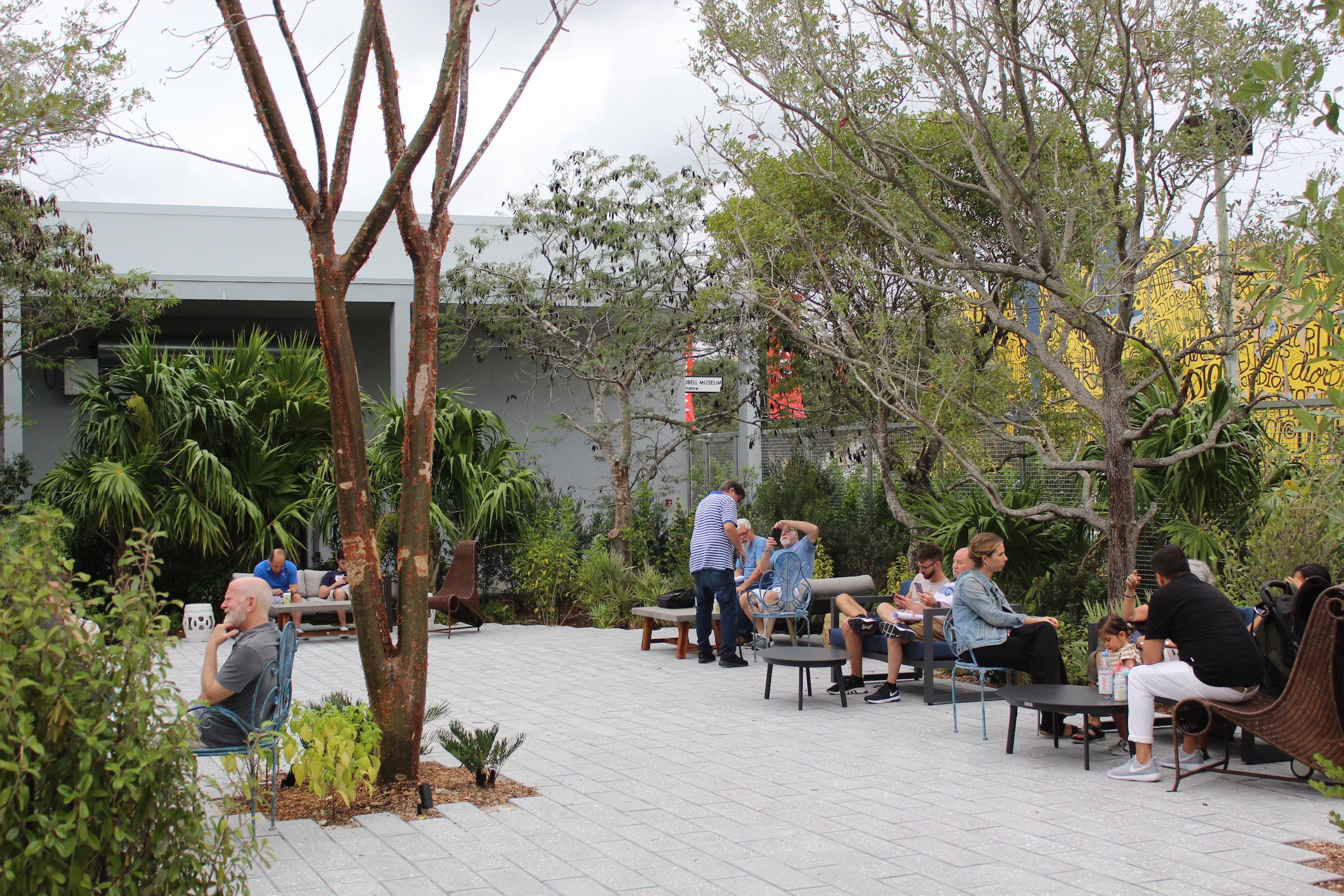 The outside garden