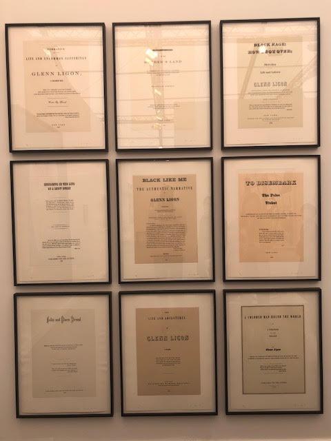 ARTIST'S: 1) GLENN LIGON: (Narratives, 1993) Thomas Dane Gallery