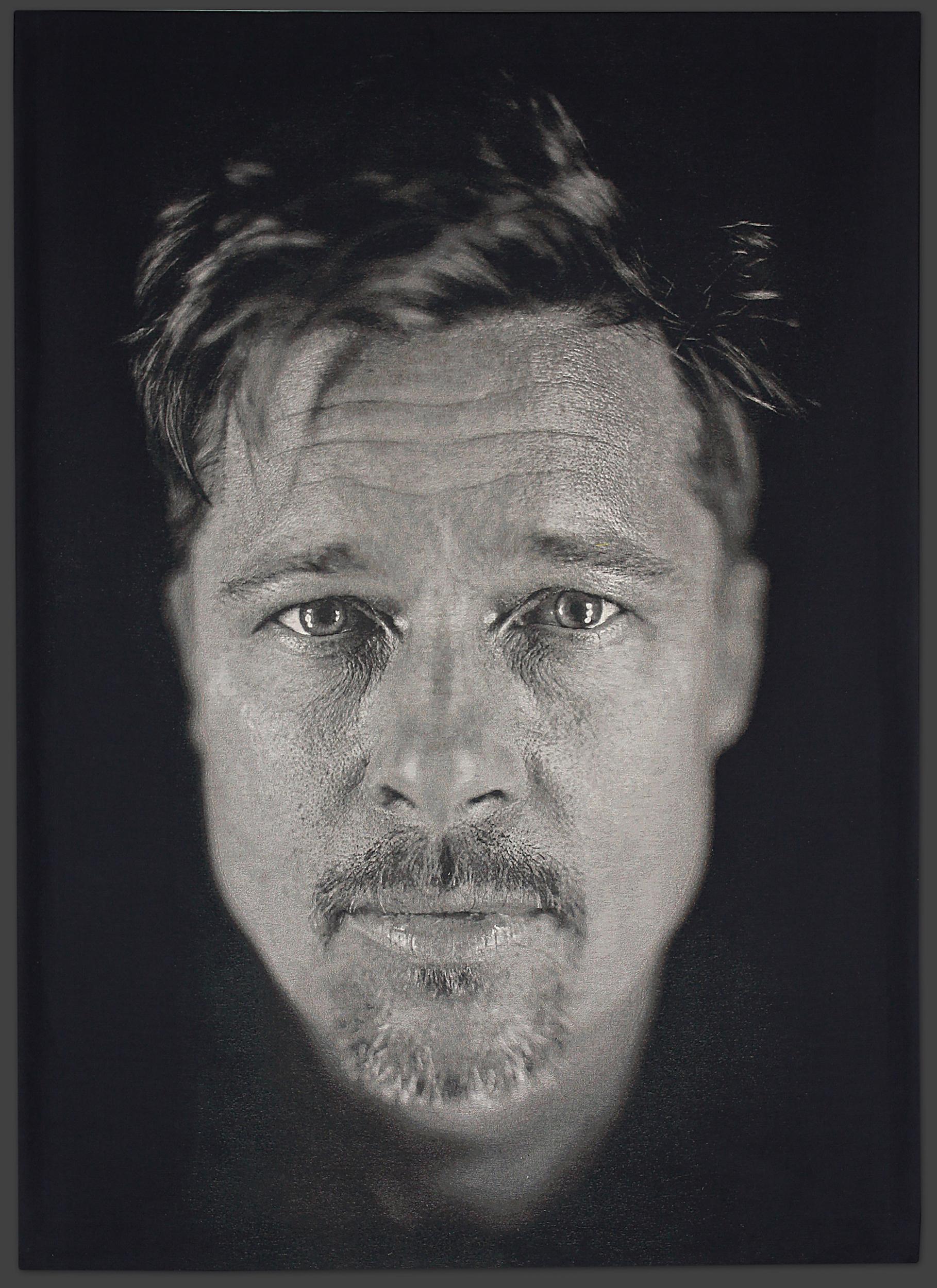 Brad Pitt Tapestry Photograph courtesy of: Chuck Close Studio