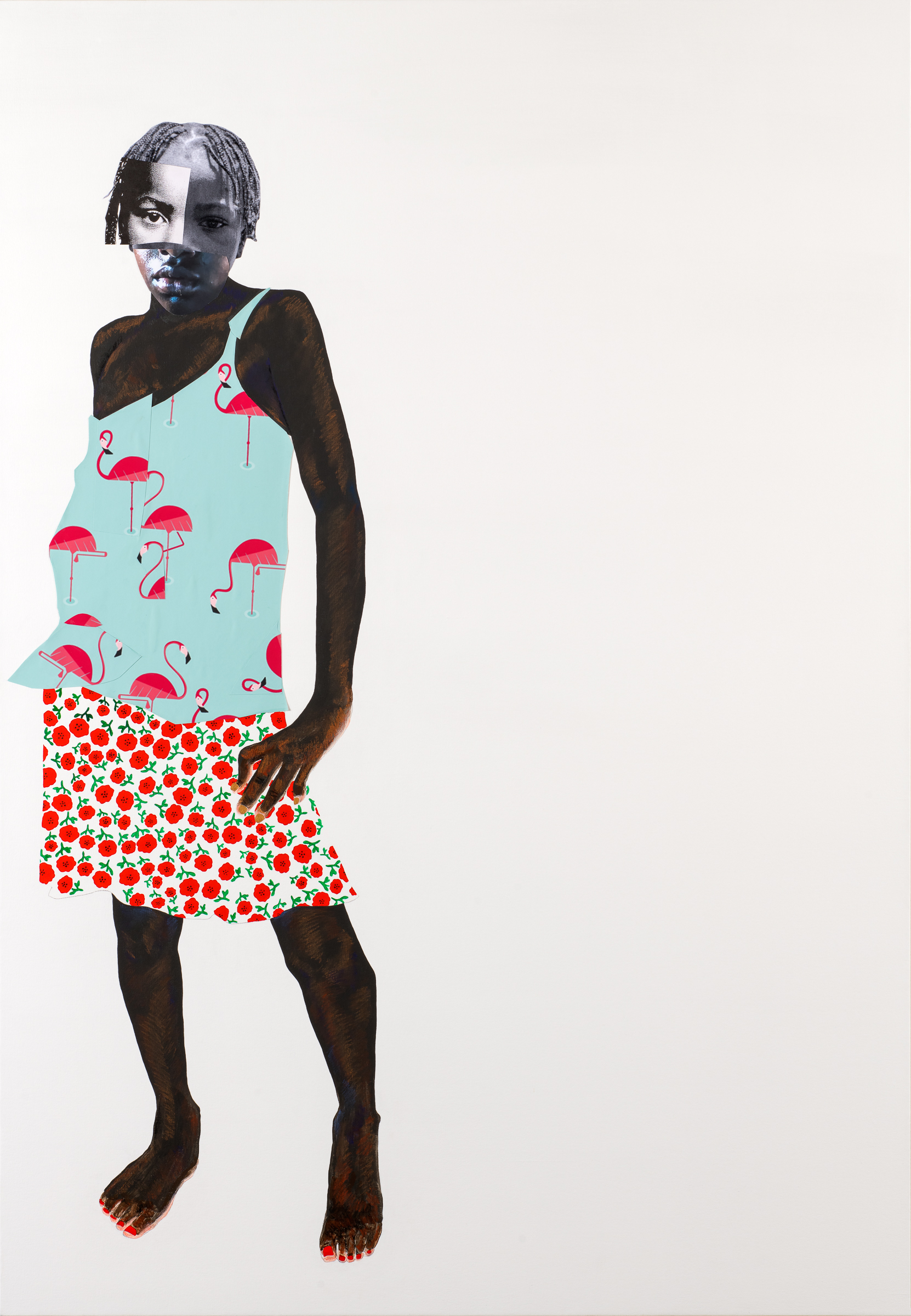That's not ladylike Copyright Deborah Roberts. Courtesy of the artist, Susanne Vielmetter Los Angeles Projects, CA
