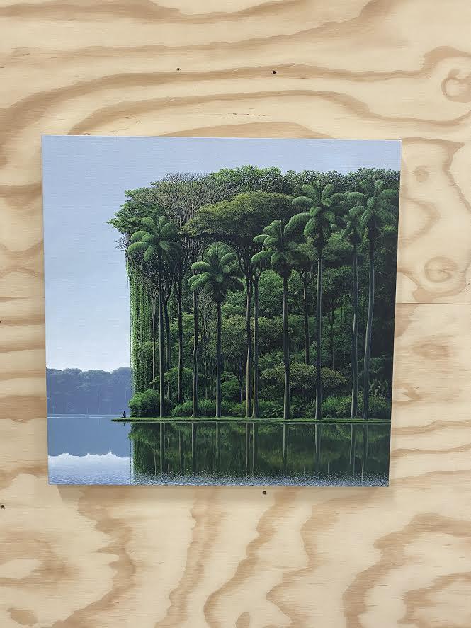Pausa a la orilla, 2020 acrylic on canvas