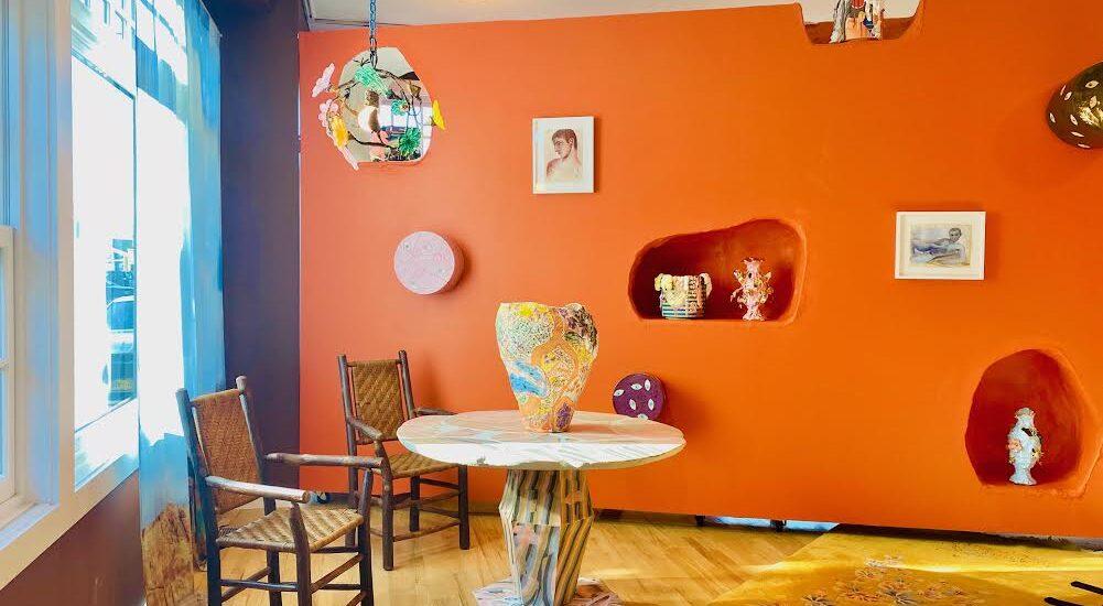 Jennifer Rochlin Vase, Brian Rochefort paint can, Bruce M. Sherman, Louis Fratino