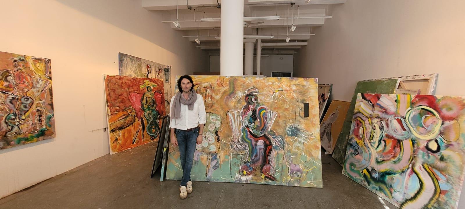 Alexander Yulish in his studio