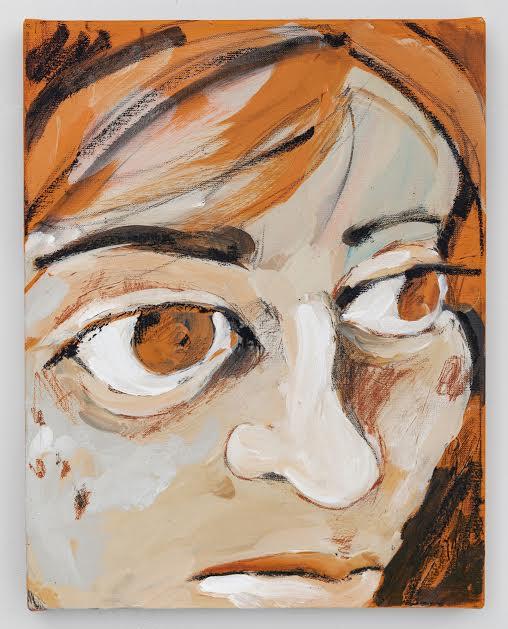 Autorretrato en Naranja Self Portrait on Orange