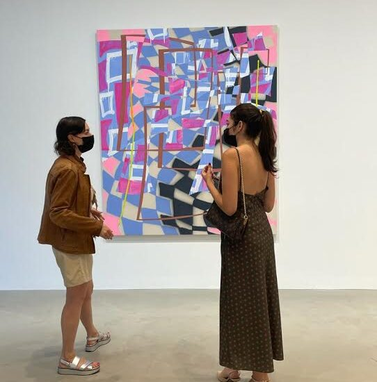 Alexandra Goldman discussing Trudy Benson's first work with the Gallery with Andrea Lledo from Portray .