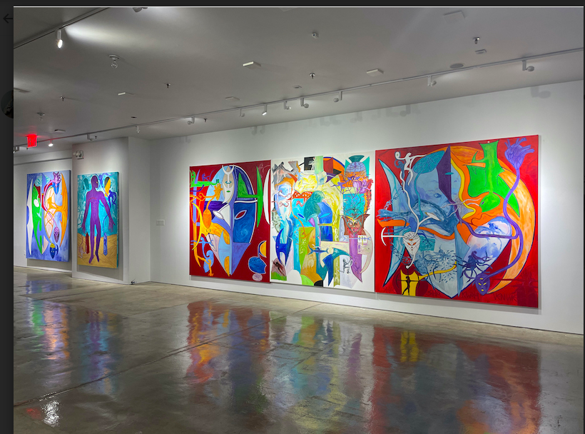 Lance De Los Reyes at the Ross-Sutton Gallery