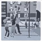 ERIC HAZE Hoop Dreams, 2021 Acrylic on canvas 48 x 48 inches 121.9 x 121.9 cm (MMG#33322) Courtesy of the artist