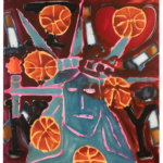 KATHERINE BERNHARDT Washington Square Park, 2021 Acrylic and spray paint on canvas 78 x 72 inches 198.1 x 182.9 cm (MMG#33318) Courtesy the artist and Canada, New York.