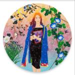 TOMOKAZU MATSUYAMA Bustin' Action Minority, 2021 Acrylic and mixed media on canvas 54 inches; 137.2 cm in diameter (MMG#33323) Courtesy of TOMOKAZU MATSUYAMA STUDIO