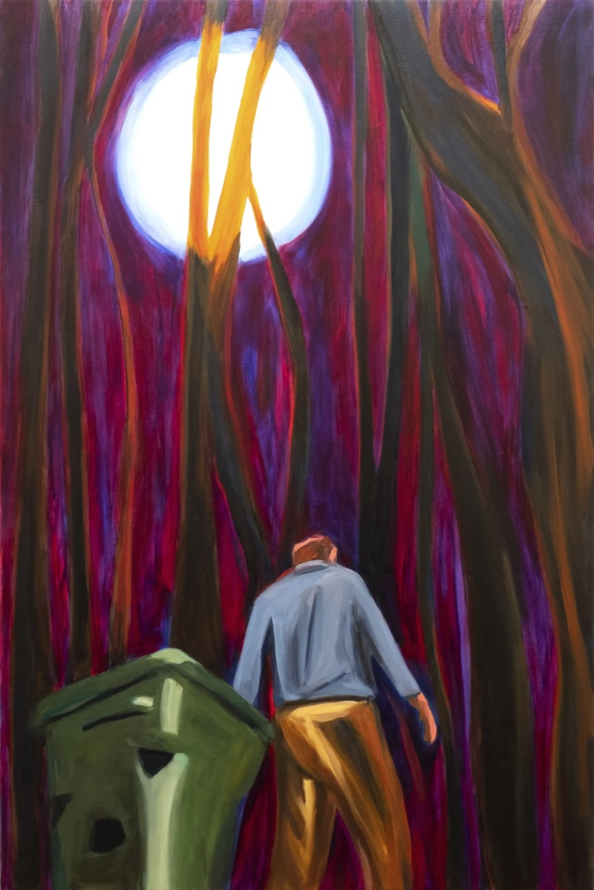 """Maureen O Leary """"The Trash at Night"""" 2021 Photo courtesy of: Cristin Tierney Gallery"""
