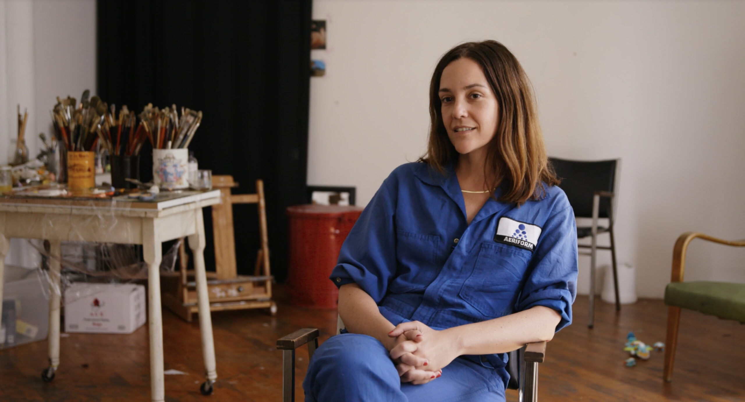 Artist Jenna Gribbon as seen in Kelcey Edwards documentary The Art of Making It!  Image Courtesy of Wischful Thinking Productions